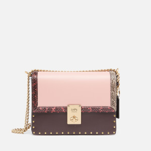 Coach Women's Colorblock Jennifer Lopez Hutton Shoulder Bag - Peony Oxblood Multi
