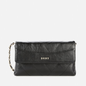 DKNY Women's Cici Quilted Cross Body Bag - Black/Gold