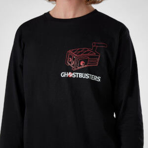 Ghostbusters Proton Pack Men's Long Sleeve T-Shirt - Black