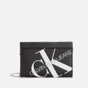Calvin Klein Jeans Women's Logo Chain Cardcase Cross Body Bag - Black