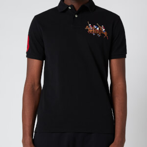 Polo Ralph Lauren Men's Custom Slim Triple Pony Polo Shirt - Polo Black
