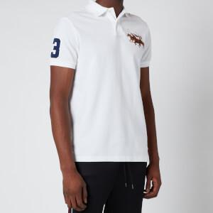 Polo Ralph Lauren Men's Custom Slim Triple Pony Polo Shirt - White