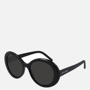 Saint Laurent Women's Oversized Round Sunglasses - Black