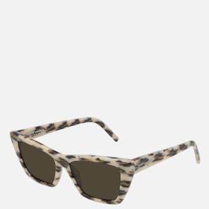 Saint Laurent Women's Mica Cat Eye Sunglasses - Ivory/Brown