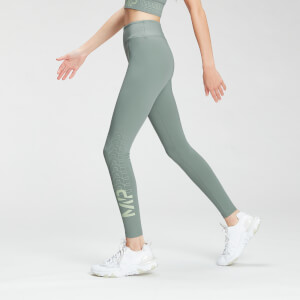 MP Women's Fade Graphic Training Leggings - Washed Green