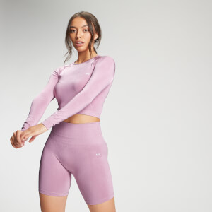 MP Women's Limited Edition Shape Seamless Ultra Long Sleeve Crop Top - Pink