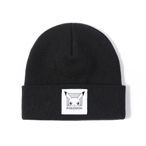 Pokémon Pikachu Patch Beanie - Black