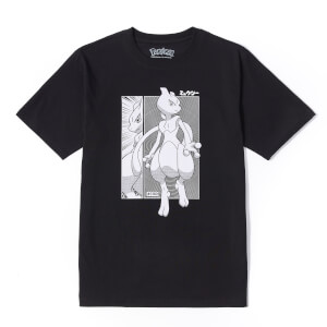 Pokémon Mewtwo Oversized Unisex Heavyweight T-Shirt - Black