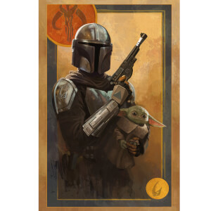 "Star Wars The Mandalorian ""Tribe of Two"" Lithograph by Kayla Woodside"