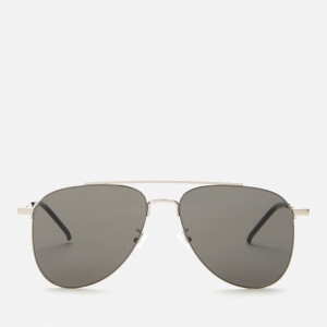 Saint Laurent Men's Sl 392 Wire Aviator Sunglasses - Silver/Grey