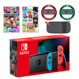 Nintendo Switch (Neon Blue/Neon Red) Mario Mega Pack
