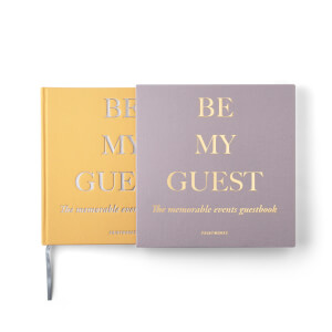 Printworks Guest Book - Beige/Yellow