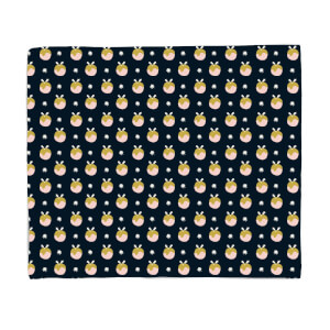 Midnight Christmas Pud Pattern Fleece Blanket