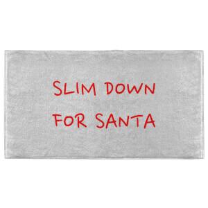 Slim Down For Santa Fitness Towel