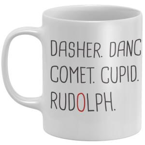 Reindeer Names Mug