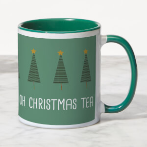 On The First Day Of Christmas My True Love Brought My Tea Mug - White/Green
