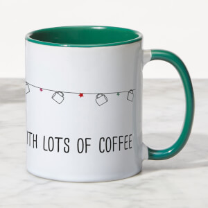 Deck The Halls With Lots Of Coffee Mug - White/Green