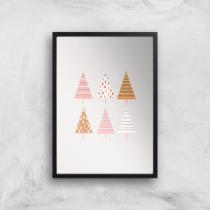 Christmas Tree Mix Giclee Art Print