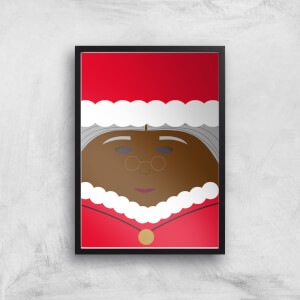 Mrs Claus Christmas Giclee Art Print