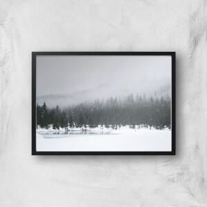 Snowy Landscape Giclee Art Print