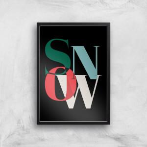Snow Giclee Art Print