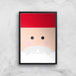 Santa Face Giclee Art Print