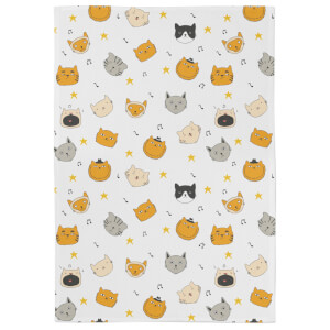 Cats At Christmas Tea Towel