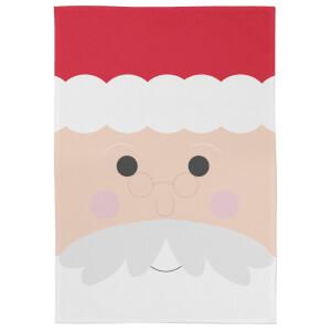 Cartoon Father Christmas Tea Towel