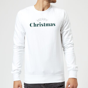 Merry Christmas Sweatshirt - White