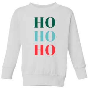 Graphical Ho Ho Ho Kids' Sweatshirt - White