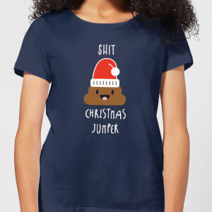 Shit Christmas Jumper Women's T-Shirt - Navy