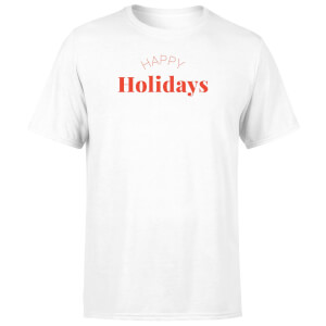 Happy Holidays Men's T-Shirt - White