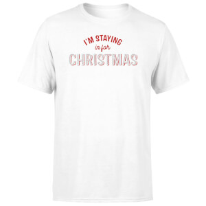 I'm Staying In For Christmas Men's T-Shirt - White
