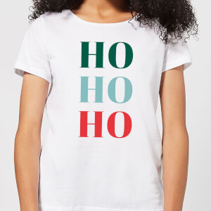 Graphical Ho Ho Ho Women's T-Shirt - White