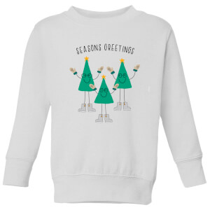 Seasons Greetings Kids' Sweatshirt - White