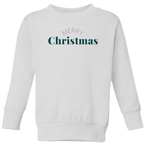 Merry Christmas Kids' Sweatshirt - White