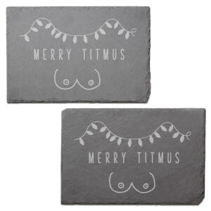 Merry Titmus Engraved Slate Placemat - Set of 2