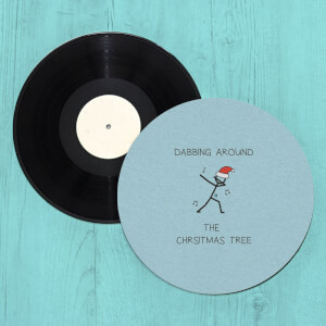 Dabbing Around The Christmas Tree Slip Mat
