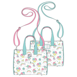 Loungefly Sanrio Little Twin Stars Rainbow Aop Crossbody Bag