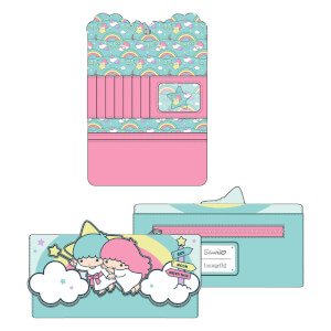 Loungefly Sanrio Little Twin Stars Rainbow Cloud Tri-Fold Wallet