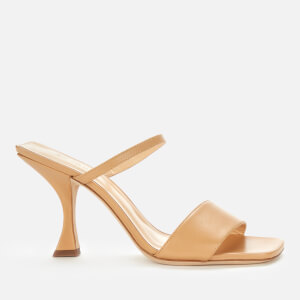 by FAR Women's Nayla Leather Heeled Mules - Nude