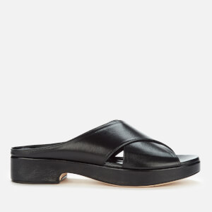 by FAR Women's Iggy Leather Flat Sandals - Black