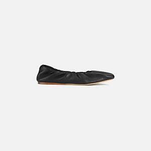 Ganni Women's Napa Ballet Flats - Black