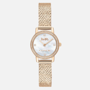 Coach Women's Audrey Mesh Strap Watch - Gold