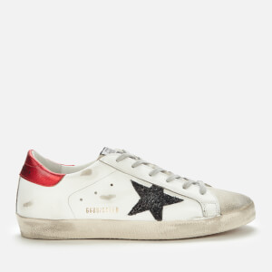 Golden Goose Deluxe Brand Women's Superstar Leather Trainers - Ice/White/Black/Red