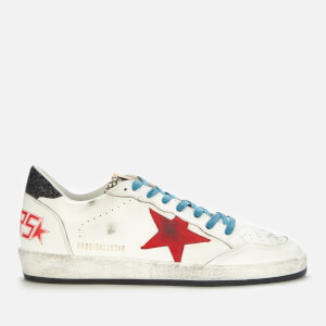 Golden Goose Deluxe Brand Men's Ball Star Leather Trainers - White/Red/Rock Snake