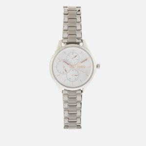 HUGO Women's Fearless Link Watch - Silver