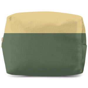 Split Colour Green Wash Bag