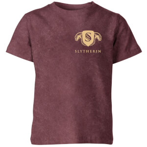 Harry Potter Slytherin Kids' T-Shirt - Burgundy Acid Wash