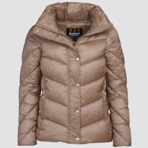 Barbour International Women's Parson Quilt Coat - Soft Gold